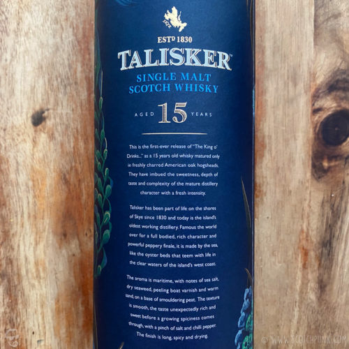 Review: Talisker 15 (2019)