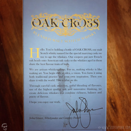 Review: Compass Box Oak Cross